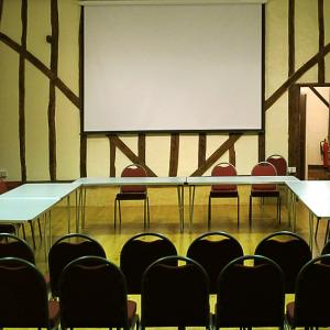Conference Layout with Projection Screen